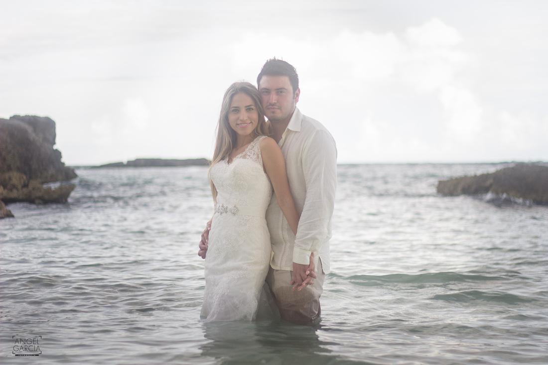 Magaly y Carlos - Trash the Dress desde la Riviera Maya - Hotel Grand Sirenis